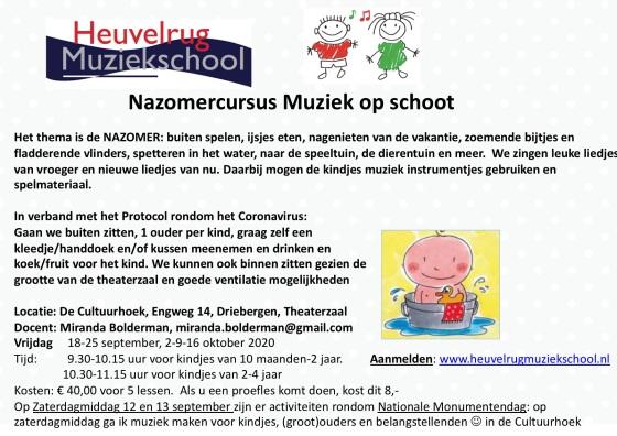 flyer Nazomer aangepast 2020 Doorn met logo