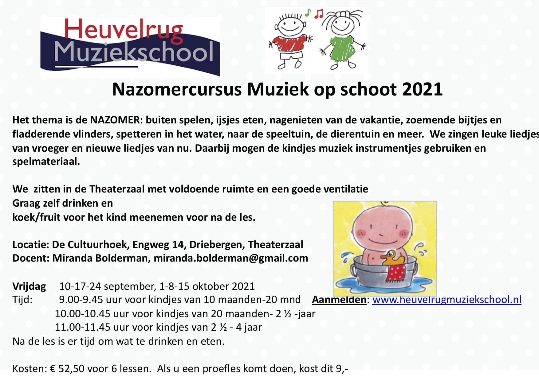 flyer Nazomer aangepast 2021 Doorn met logo